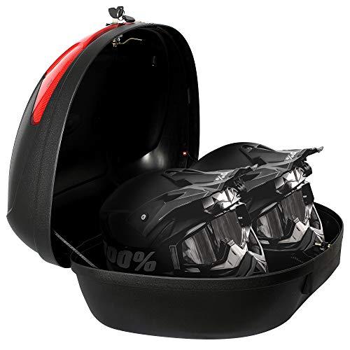 Todeco - Top Case Universal, Maletin Para Moto - Material: PP - Tamano: 59,5 x 43,5 x 31 cm - Negro, 52 Litro(s)