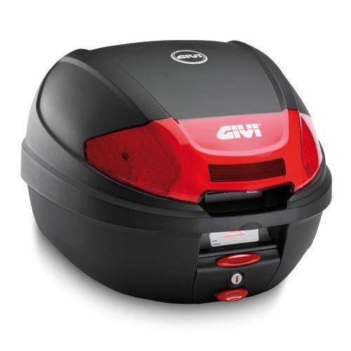Givi E300N2 Monolock Baul con Cierre Nuevo con Placa Negro Mate, Carga Maxima 3 Kg