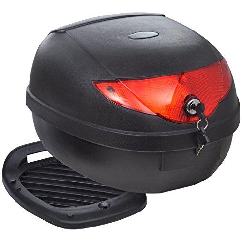 vidaXL Maletero Baul para Guardar Casco Motos 36 L Negro Equipaje Motocicleta